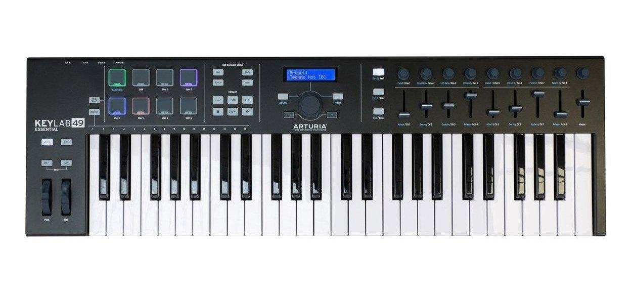 MIDI клавиатура Arturia KeyLab Essential 49 Black Edition