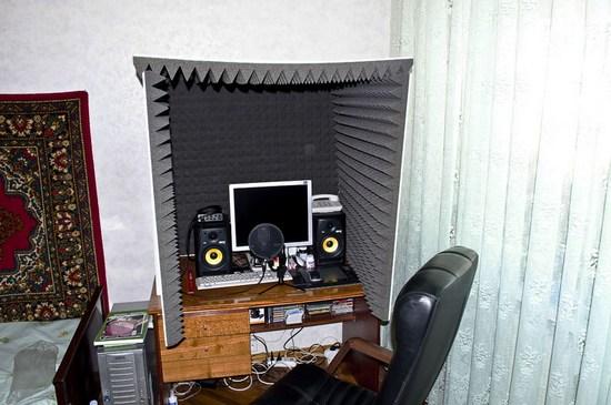 Шумоизоляция стен в студии звукозаписи
